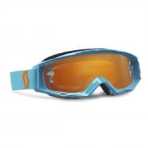 Goggle Scott Tyrant electric blue orange chrome works